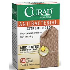 CURAD Antibacterial Adhesive Bandages 34 x