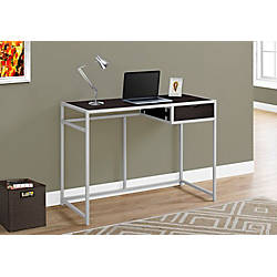 Monarch Specialties Metal Computer Desk CappuccinoSilver