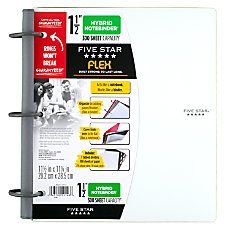 Five Star Flex NoteBinder 1 12