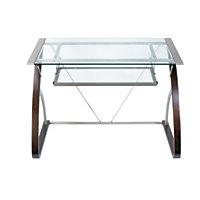 Realspace OM7400-02CD Merido Computer Desk (Espresso/Silver)