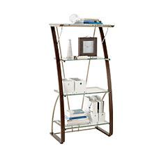 Realspace Merido Bookcase EspressoSilver