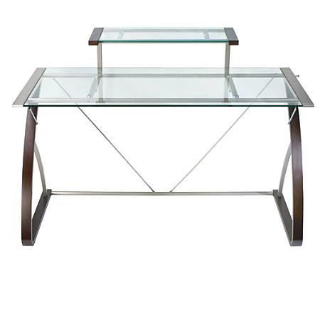 Realspace Merido Main Desk EspressoSilver by Office Depot & OfficeMax