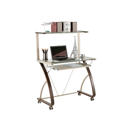 realspace merido computer tower espressosilver by office depot officemax. Black Bedroom Furniture Sets. Home Design Ideas