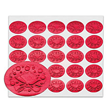 Holiday Seals Red Wreath Pack Of