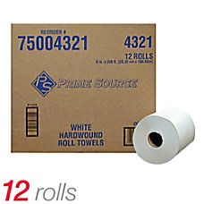 Prime Source Hardwound White Roll Towels