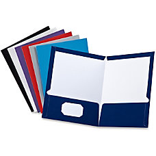 Oxford Laminated Twin Pocket Folders Letter