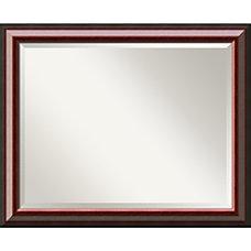 Amanti Art Cambridge Mahogany Wall Mirror