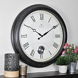 FirsTime Adair Round Wall Clock 24