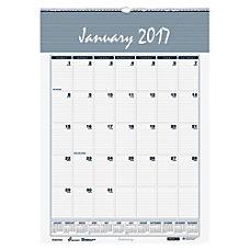 SKILCRAFT Wirebound Monthly Calendar 12 x