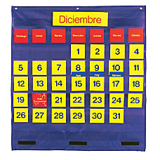 Learning Resources Bilingual Monthly Calendar Pocket
