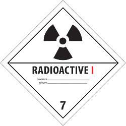 Tape Logic Preprinted Labels Radioactive I