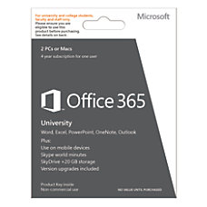 Microsoft Office 365 University English Version