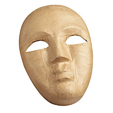 Pacon Paper Mache Mask Brown