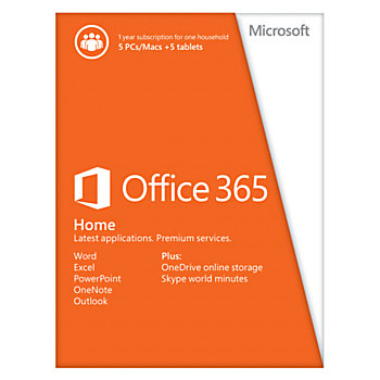 microsoft office 365 home english version 1 year