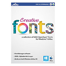 Creative Fonts 2013 For PCMac Traditional