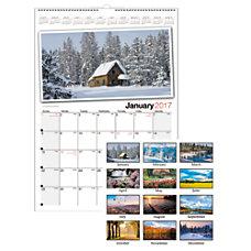 Office Depot Brand Photographic Wall Calendar