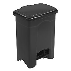 Safco 4 Gallon Step On Trash