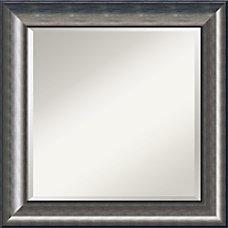 Amanti Art Quicksilver Wall Mirror Square
