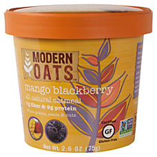 Modern Oats Oatmeal Cups Mango Blackberry