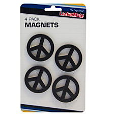 LockerMate Magnets Black Peace Pack Of
