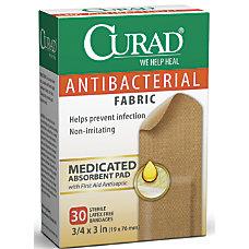 CURAD Flex Fabric Antibacterial Adhesive Bandages
