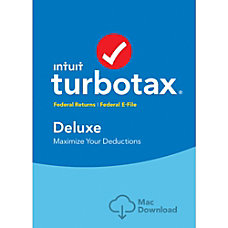 TurboTax Deluxe Federal 2016 For Mac