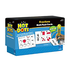 Educational Insights Hot Dots Fractions Flash