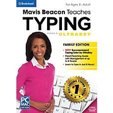 Mavis Beacon Family Edition Teaches Typing