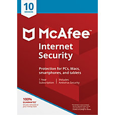 McAfee Internet Security For 10 Devices