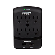 Monster 6 Outlet Wall Power Tap