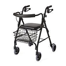 Guardian Deluxe Rollator 6 Wheels Black