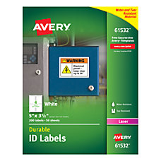 Avery Permanent Durable ID Labels With