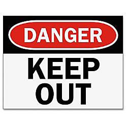 Tarifold Safety Sign Inserts Danger Keep