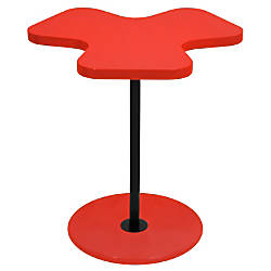 Lumisource Clover Side Table RedBlack