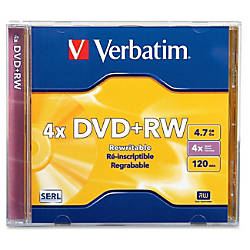 Verbatim DVDRW 47GB 4X with Branded