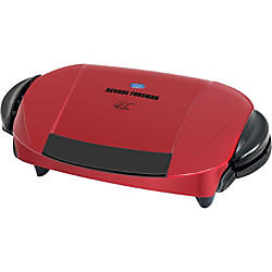 George foreman 5 serving removable plate grill redblack by - Largest george foreman grill with removable plates ...