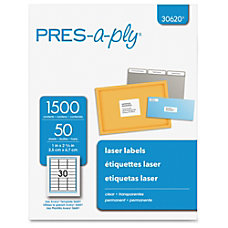PRES a ply Standard Address Label