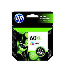 HP 60XL Tricolor Ink Cartridge CC644WN