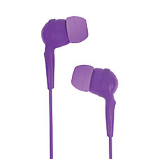 JLab AWESOME Earbud Headphones Purple
