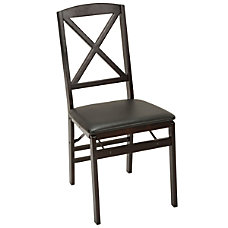 Cosco X Back Wood Folding Chairs