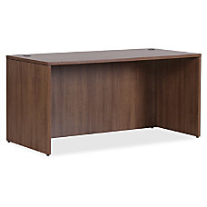 Lorell Essentials Series Walnut Desk Shell