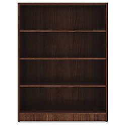 Lorell Walnut Laminate Bookcase 48 Height