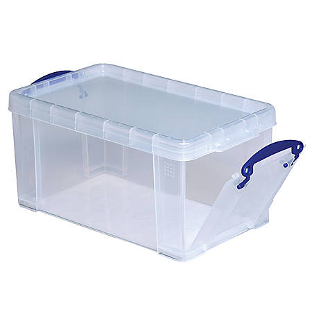 really useful box plastic storage box 8 liters 13 14 x 7. Black Bedroom Furniture Sets. Home Design Ideas