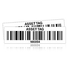 Wasp Pre Printed Polyester Asset Tag