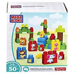 Mega Bloks Animal Families Building Blocks