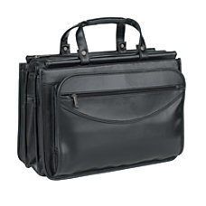 SOLO Classic Leather Triple Compartment Portfolio