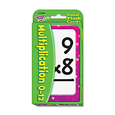 Trend Pocket Flash Cards Multiplication Box