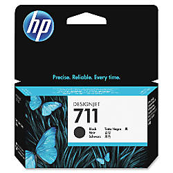 HP 711 Black Ink Cartridge CZ129A