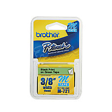 Brother P Touch M721 Non Laminated