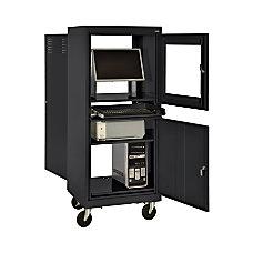 Sandusky Mobile Computer Cabinet Black